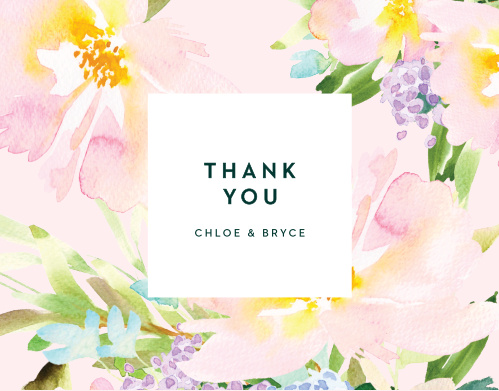 Citrus Flowers Wedding Thank You Cards