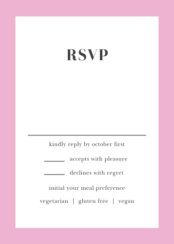 Luxe Roses Response Cards
