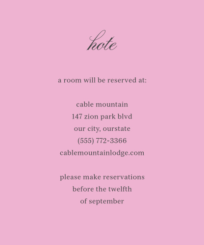 Luxe Roses Accommodation Cards