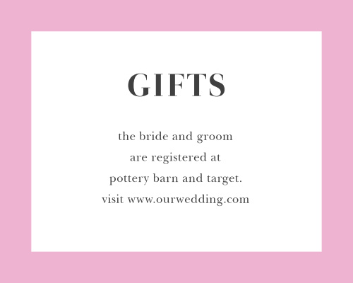 Luxe Roses Registry Cards