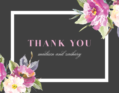 Luxe Roses Wedding Thank You Cards