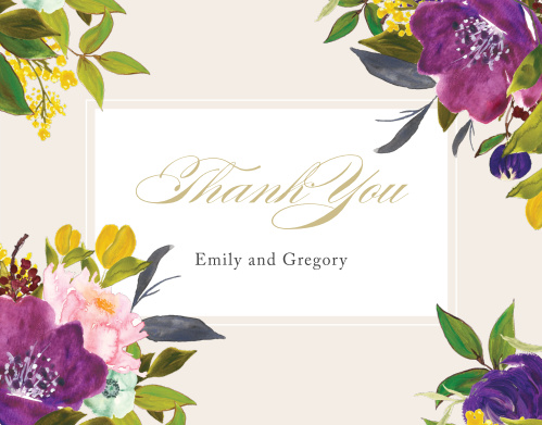 Regal Arrangement Wedding Thank You Cards