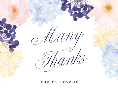 Pastel Watercolors Wedding Thank You Cards