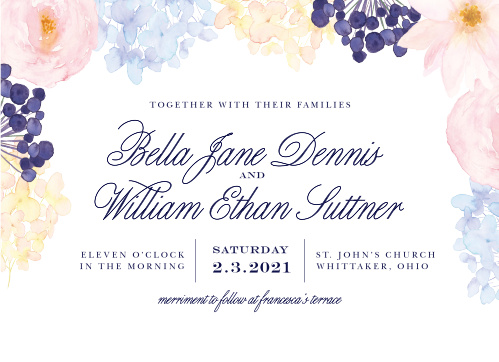Pastel Watercolors Wedding Invitations