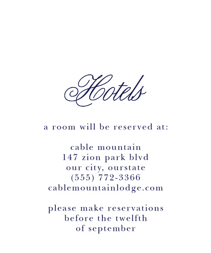Pastel Watercolors Accommodation Cards