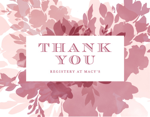 Blooming Watercolors Baby Shower Thank You Cards