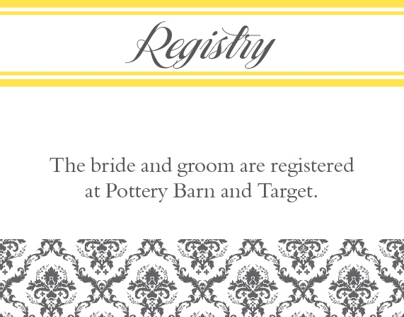 The Elegantly Modern Registry Cards
