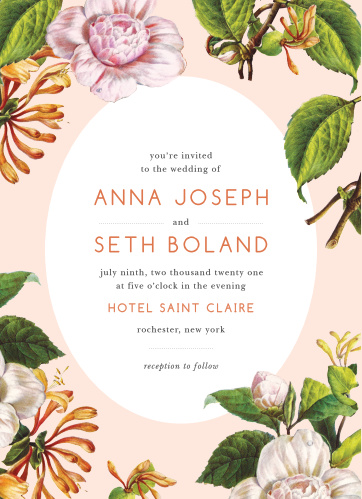Spring Wedding Invitations Match Your Color Style Free