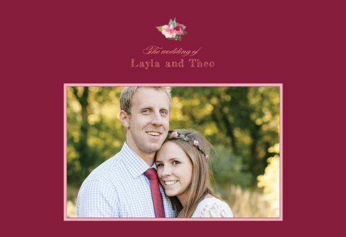 Maroon Bouquet Website