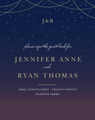 Light & Lantern Guest Book