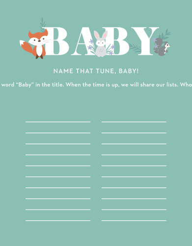 Friendly Forest Baby Song Contest