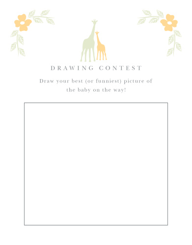 Delicate Giraffe Baby Drawing Contest