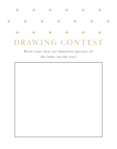 Darling Dots Baby Drawing Contest
