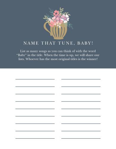 Tasteful Tea Pot Baby Song Contest