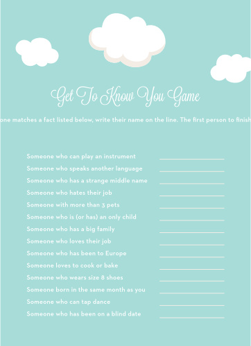 Special Stork Get to Know You Game
