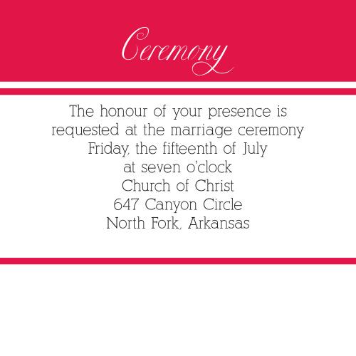 Precious Paisley Ceremony Cards