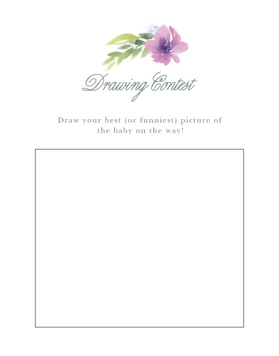Floral Delight Baby Drawing Contest