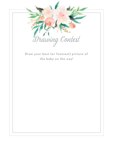 Blossoming Love Baby Drawing Contest