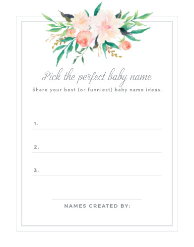Blossoming Love Baby Name Contest