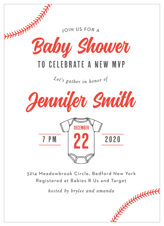 graphic about Free Printable Baseball Baby Shower Invitations called Baseball Boy or girl Shower Invites - Recreation Your Shade Structure