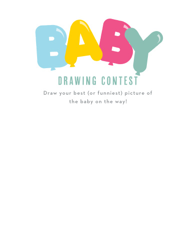 Bubble Balloons Baby Drawing Contest