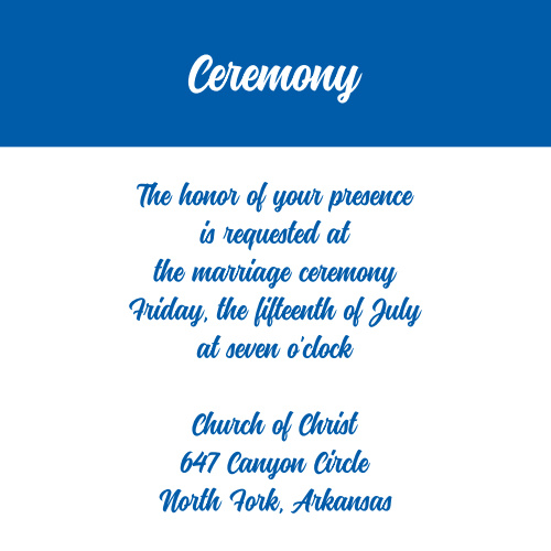 Passionate Forever Ceremony Cards