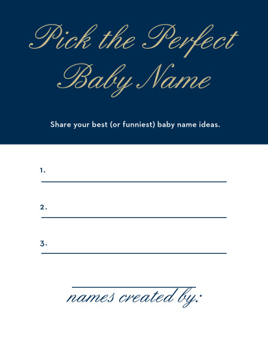 Baby Shower Games | Match Your Color & Style Free! - Basic