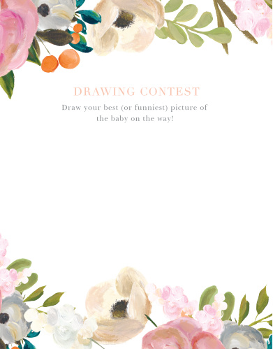 Gouache Blooms Baby Drawing Contest