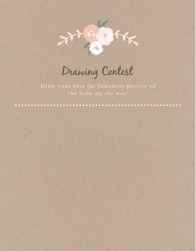 Floral Kraft Baby Drawing Contest