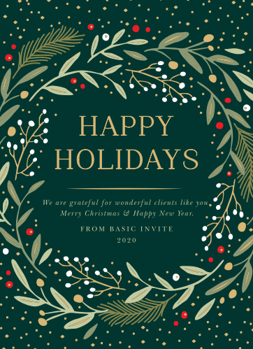 Business & Corporate Holiday Cards | Easy To Design - Basic Invite