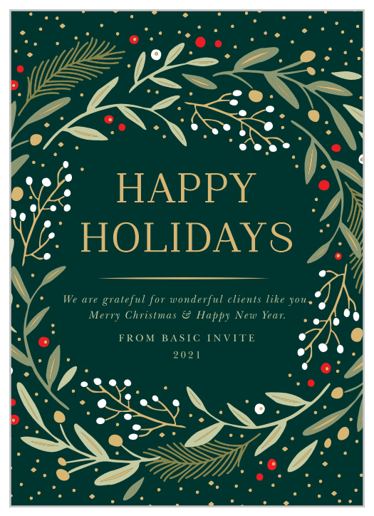 Corporate Christmas Cards.Business Corporate Holiday Cards Easy To Design Basic