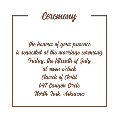 Have and to Hold Ceremony Cards