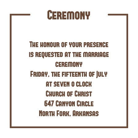 The Have & to Hold Ceremony Cards
