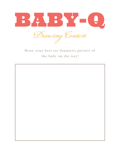 Cozy Cookout Baby Drawing Contest