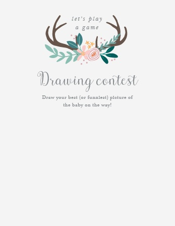 Rustic Bouquet Baby Drawing Contest