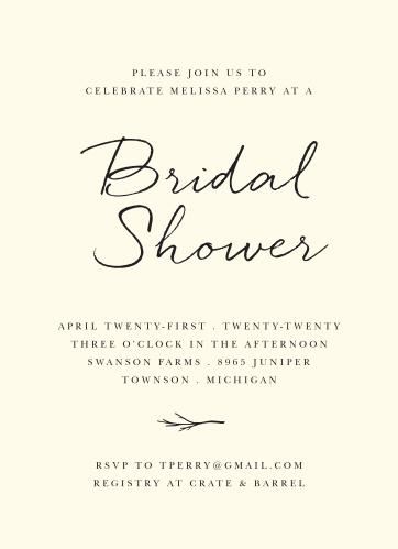 elegant twig bridal shower invitations