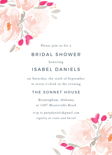 3064a6970003 Modern Bridal Shower Invitations - Match Your Color   Style Free!