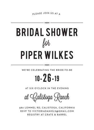 printed playbill bridal shower invitations
