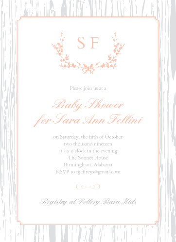 Country Baby Shower Invitations Match Your Color Style Free