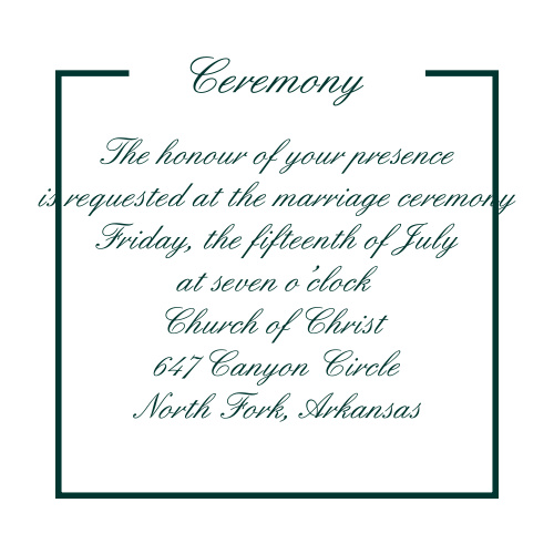 Stacked Photo Ceremony Cards