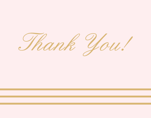 Blush and Gold Baby Shower Thank You Cards