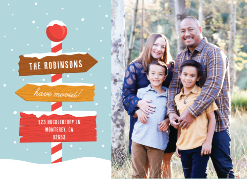 New Home Holiday Cards Match Your Color Style Free