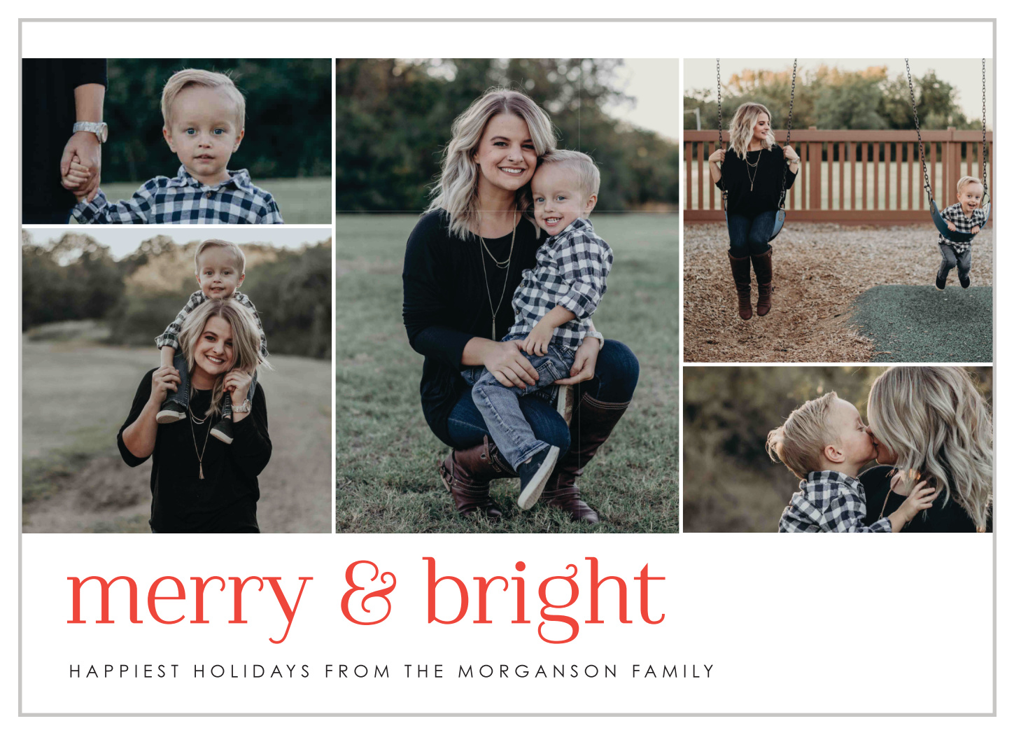 timeline memories christmas cards by basic invite