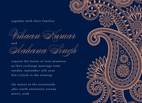 b02148c93d91 Indian Wedding Invitations - Match Your Color   Style Free!