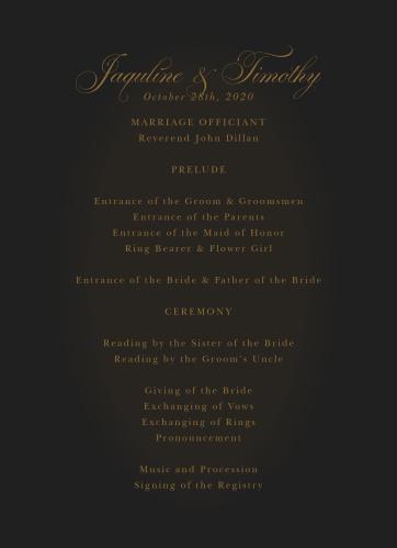 Vintage Dracula Wedding Programs