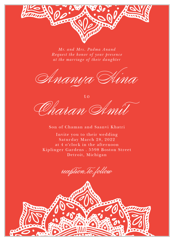 Indian Mandala Wedding Invitations by Basic Invite