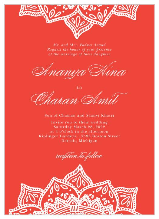 wonderful wedding invitation template indian 35