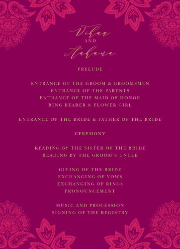 a69b1a363a2 Indian Wedding Invitations - Match Your Color   Style Free!