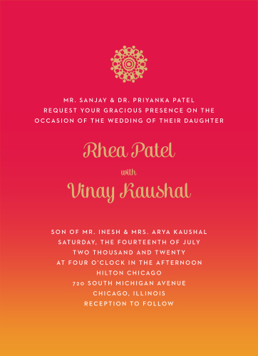 Hindu Wedding Invitations Match Your Color Style Free