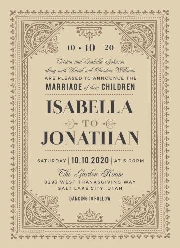 Vintage Wedding Invitation Erha Yasamayolver Com